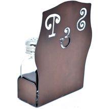 Rustic Iron Metal Cutout S&P Script Salt & Pepper Shaker Set image 3