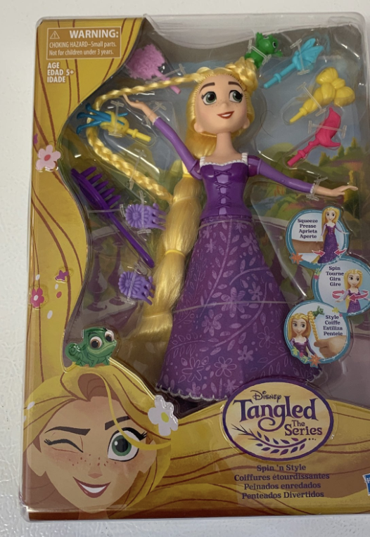 Hasbro Disney Tangled Doll Spin N Style New