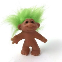 Vintage 1986 DAM Troll with Lime Green Hair Kitsch Collectible - $14.84