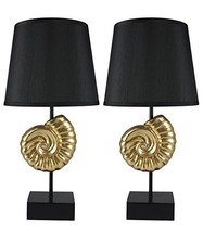 Urbanest Set of 2 Nautilus Table Lamps, Gold - $106.91