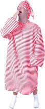 Nightshirt Cap Costume Adult Men Women Red White Striped Halloween Funny... - £36.97 GBP