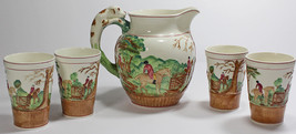 WEDGWOOD - Dye Ken John Peel - 1820 - Muliti Color - PITCHER w/ 4 Matchi... - $150.00