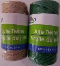 Jute Twine 180 ft Soft Ties Garden, Select: Brown or Green - $2.99