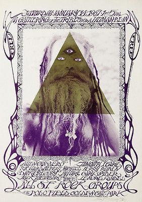 Primary image for Allen Ginsberg - Timothy Leary - 1967- Golden Gate Park Poster