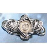 Thai Karen Hill Tribe Silver Rose and Leaf S-Clasp #ZF002b - $17.80