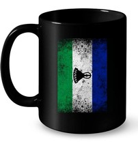 Lesotho Flag Distressed Vintage Gift Coffee Mug - $13.99+