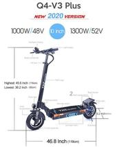 Folding Electric Scooter TNE Q4 V3 Plus 1300w 52v 18ah Lithium Battery Hub Motor image 6