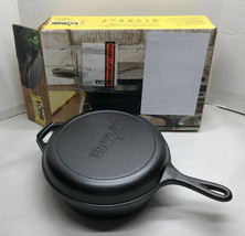 Brand New Lodge LCC3 Cast Iron Combo Cooker, Pre-Seasoned, 3.2-Quart Coo... - $56.37