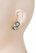 Antique Silver tone Cat- Kitten Stud Earrings By Sweet Romance, Made in Usa - $22.85