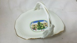 Mikasa Bone China Seasons Greetings Basket Narumi Japan - $9.69