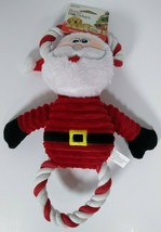 Pet factory Holiday Santa Plush With Rope Dog Toy, Squeeks 12 in. - £7.98 GBP