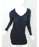 L.A.M.B. Gwen Stefani Dress Black Rouched Long Sleeve LBD Sexy Sz S - $93.24