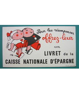 CHECKING ACCOUNT National Savings Bank - c 1960 Ink Blotter Advertisement - $4.49