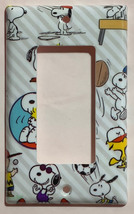 Peanuts Snoopy sport Toggle Rocker Light Switch Outlet wall Cover Plate decor image 3