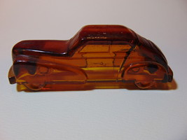 "4 5/8"", Vintage, Pressed Amber Glass, 1940's Automobile, Candy Container. - $19.99"