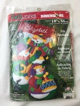 DIMENSIONS FELTWORKS SNOWMEN CHRISTMAS STOCKING #8096 - $28.04