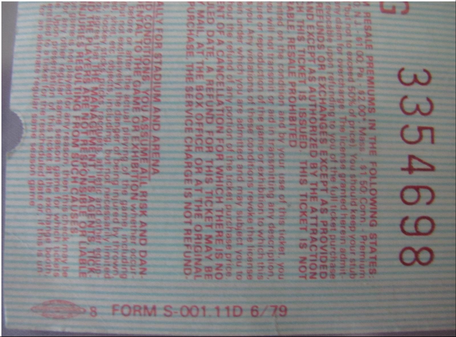 PINK FLOYD 1980 The Wall Tour Nassau Coliseum Full 3/4 Concert Ticket Scarce