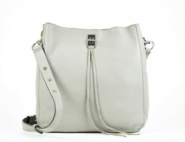 Rebecca Minkoff Darren Deerskin Leather Shoulder Bag - Putty (Retail $325) - $68.31