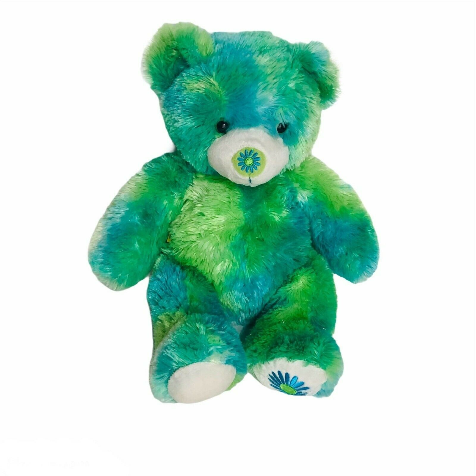 "Build A Bear Green Summer Teddy 2007 Plush Retired Stuffed Animal 15"" Tie Dye - $24.70"