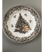 "Christmas Tree Season's Greetings Queen's Myott Factory Design 10"" Dinn... - $17.33"