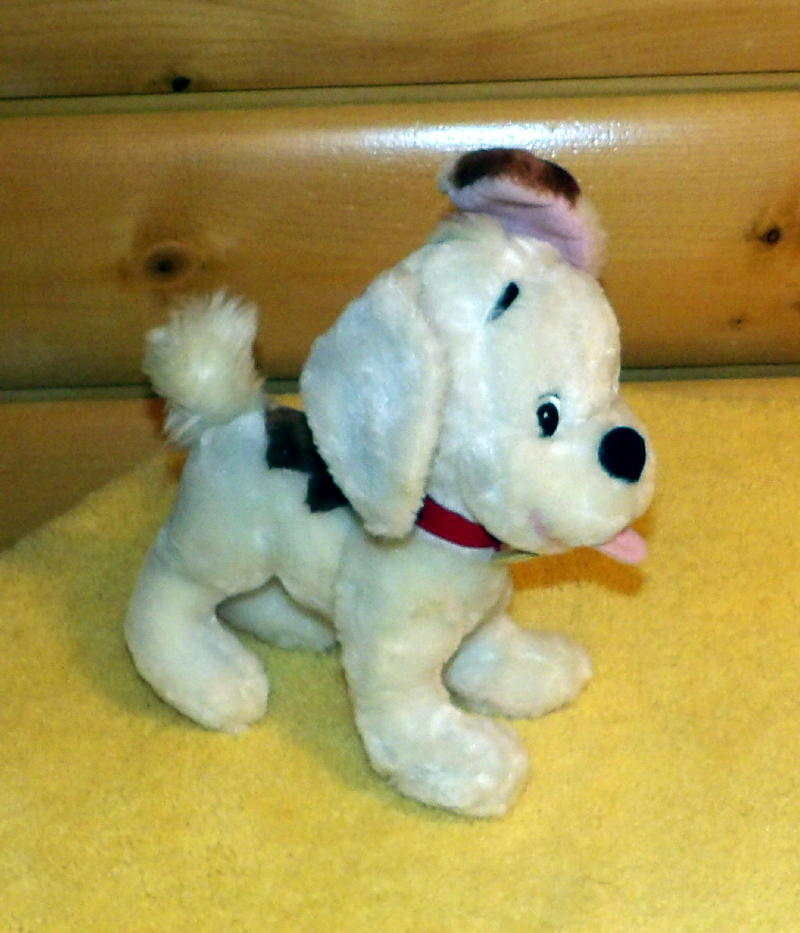 "Winnie Pooh Disney Store Logo Darby Puppy Dog White Plush 10"" BUSTER"