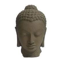 Fiber made Buddha head modern art sculpture for office home decor indoor... - $178.20