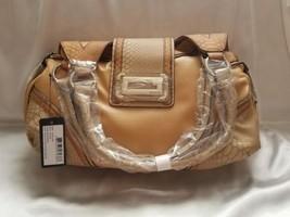 NWT GUESS WOMEN'S LIGHT BROWN TOTE SHOULDER BAG SATCHEL FANCY - $52.00