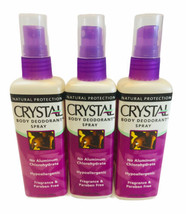 Crystal Body Deodorant Spray Natural Protection Lot Of 3 New - $16.82