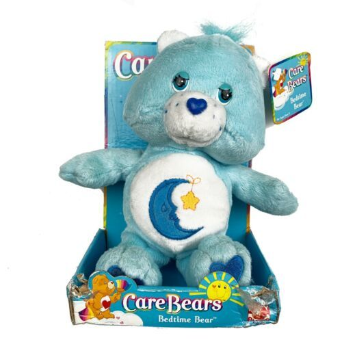 2002 Care Bears BEDTIME BEAR 8 In Sky Blue New In Box Ages 3+ - $34.65
