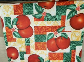 "Printed Fabric Tablecloth (60"" x 84"") Oblong (6-8 people) APPLES, Royal ... - $17.81"