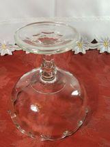 Vintage Indiana Glass Clear Teardrop Footed Compote Fruit Bowl image 5