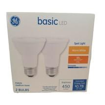 GE Basic LED 2-Pack  50 Watt EQ Warm White Daylight PAR20 Flood Light Bulbs   - $13.85