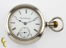 Silveroid Elgin Antique Open Face Pocket Watch Grade 96 Size 18 7 Jewel - $240.24