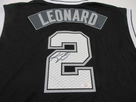 KAWHI LEONARD / AUTOGRAPHED SAN ANTONIO SPURS BLACK NBA LOGO JERSEY / COA - $108.85