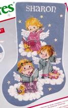 Needle Treasures Angelic Trio Angels Teddy Bears Needlepoint Stocking Ki... - $148.95