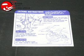68 Camaro Ss Convertible Spare Tire Jack Instructions Decal Gm# 3929977 - $999.99