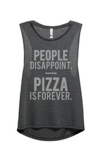 Thread Tank Pizza Is Forever Women's Sleeveless Muscle Tank Top Tee Char... - $24.99+