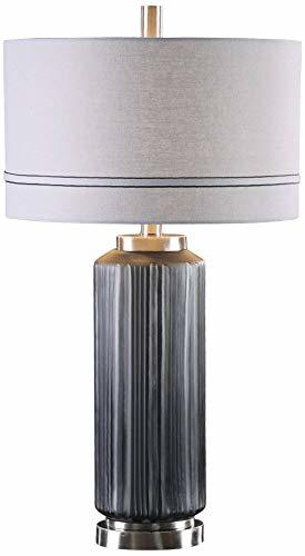 Uttermost Akila Dark Charcoal Hand-Etched Glass Table Lamp image 2