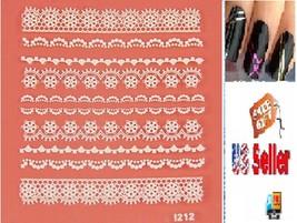 G1:Nail Art Manicure Tips Sticker w/Free 2PCS Rolls Striping Tape Line Nail Tips - $2.97