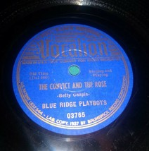 Blue Ridge Playboys Vocalion 03765 the convict and the rose  78 rpm record - $9.89