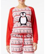 Jenni by Jennifer Moore Appliquéd Fleece Pajama Top, Red, Size XS, S, M,... - $10.44
