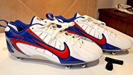 NEW Nike ID GP to FLY Sports Cleats Classic Red White & Blue w Logo spike KEY 13 - $71.23