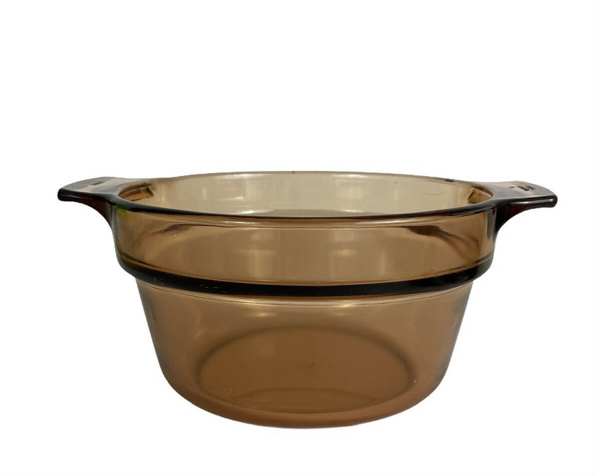 Corning Ware Vision Amber V-20-B Boiler Insert Glass Cookware France Replacement - $12.59