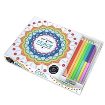 Color Pencils For Adult Coloring Book, Peace Top-bound Coloring Book Rel... - $17.39