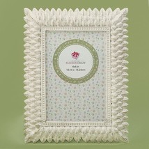 Brushed leaf ivory 4 x 6 frame from gifts by fashioncraft  - $12.99