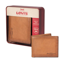 Men's Levi's RFID-Blocking Extra-Capacity Credit Card ID Tan Slimfold Wallet