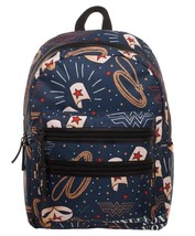 Wonder Woman Symbols Double Zip Deluxe Backpack Book Bag Laptop Case - $49.95