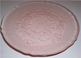 Arcoroc Rosa Pink, Rosalie, Raised Flowers dinner Plate Peach Color -Mad... - $15.99