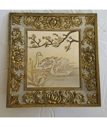 Vintage Sankyo Musical Picture Swans Japan Plays Ever Green - $70.70