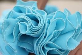 AQUA BLUE Long Chiffon Skirt High Waisted Full Circle Wedding Bridesmaid Skirt image 8